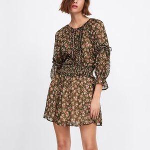Zara Floral Beaded Dress